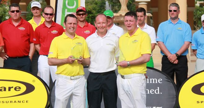 Michael and Mervin Hehir celebrate Matchplay Championship glory