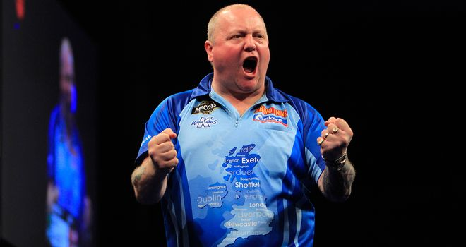 Andy Hamilton: Through to the Winners Group after beating Michael van Gerwen