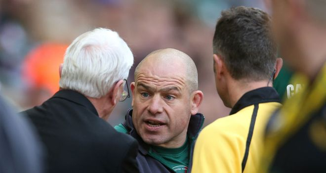 Richard Cockerill: Remonstrated with officials at Twickenham