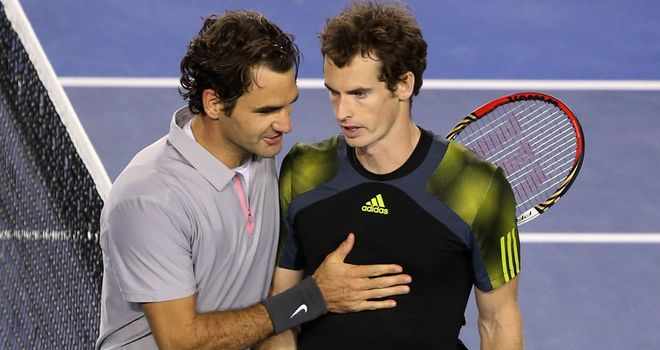 Roger Federer and Andy Murray: Ready to commence battle
