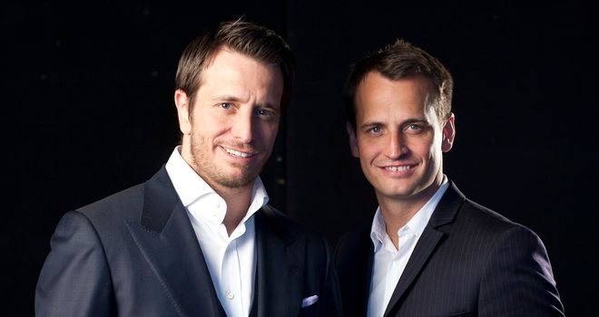 Kalle Sauerland (left) and brother Nisse are coming back to their second home... England!