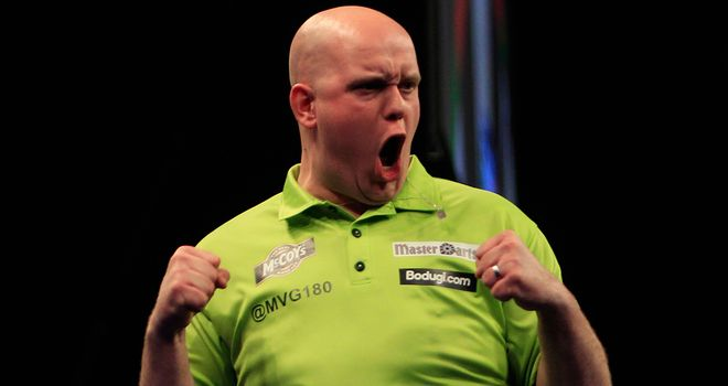 Michael van Gerwen defends his Dubai Duty Free Masters crown