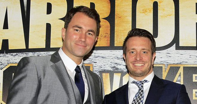 Eddie Hearn and and Kalle Sauerland - two big players this weekend (Pic Lawrence Lustig)