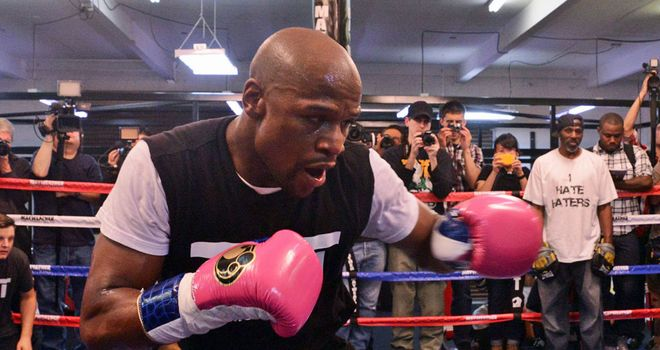 Floyd Mayweather is in great shape for his fight with Robert Guerrero