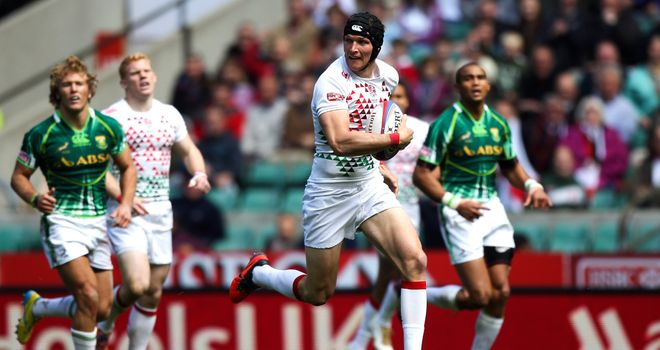 Jeff Williams in action during England's quarter-final with South Africa