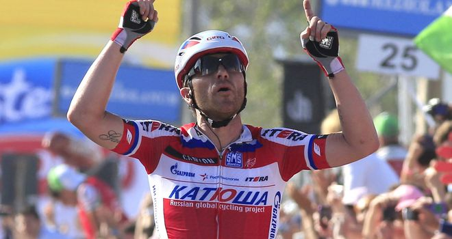 Luca Paolini launched his attack 6.5km from the finish line