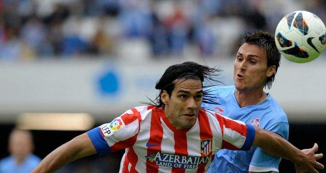 Atletico Madrid forward Radamel Falcao in action.