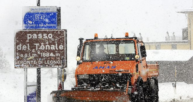 Stage 19 of the Giro d'Italia was cancelled due to bad weather
