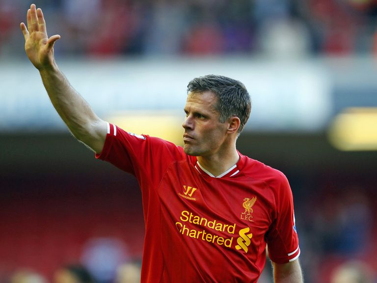 Jamie Carragher: Bowed out with victory over QPR