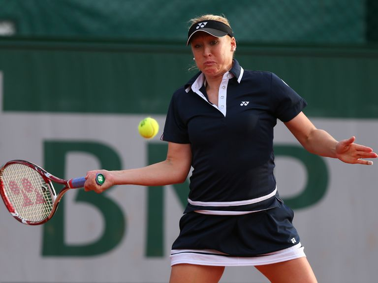 Elena Baltacha: Well beaten in the first round at Roland Garros