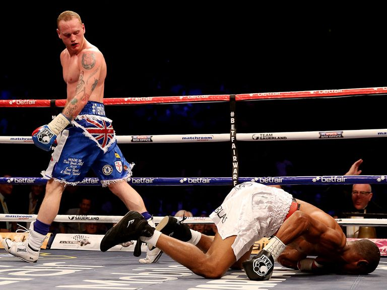 Groves leaves his opponent on the canvas