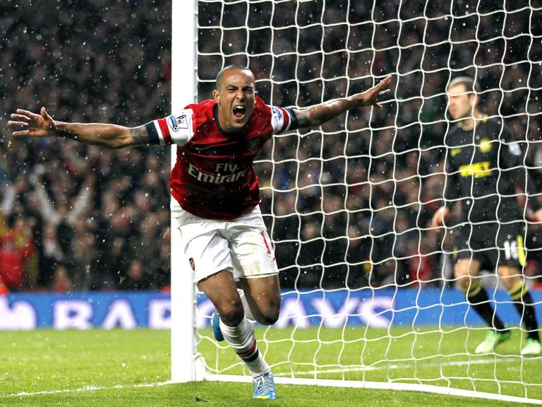 Theo Walcott: On the scoresheet against Wigan on Tuesday night