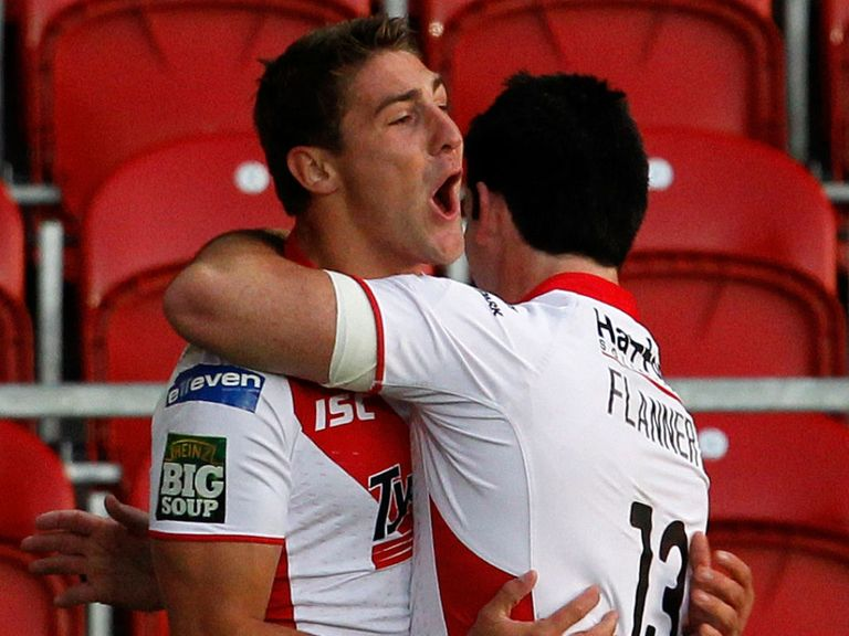 Tom Makinson: Secured victory for St Helens