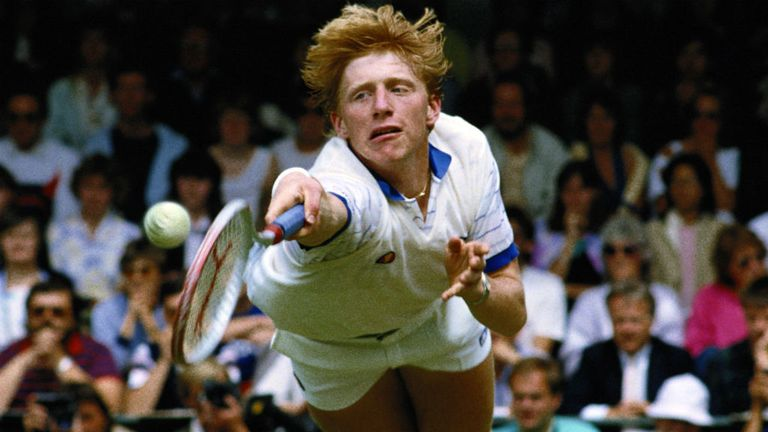 A fresh-faced Boris Becker defeated Kevin Curran to win the title in 1985