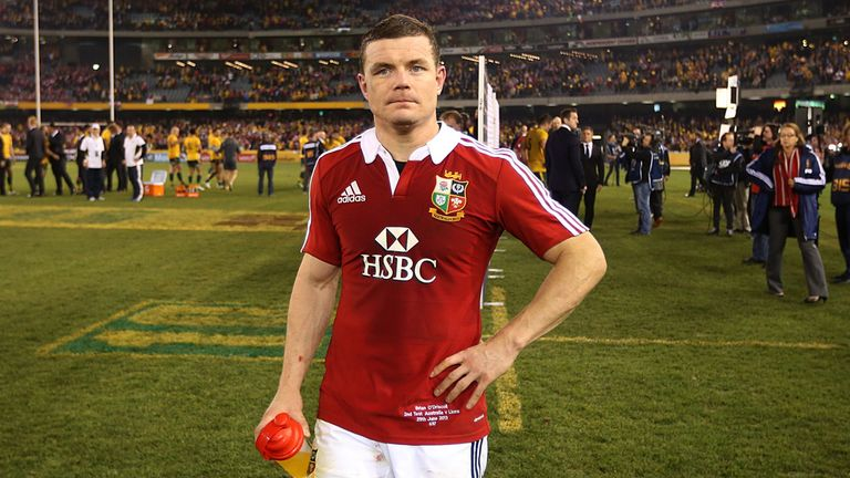 Dejected: Brian O'Driscoll reflects after the 16-15 loss in Melbourne