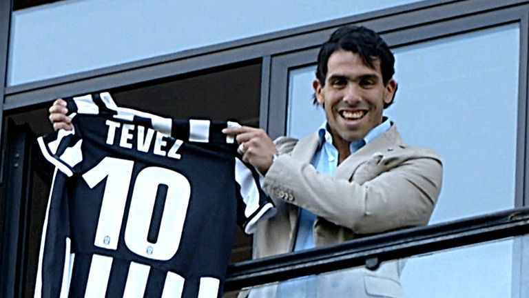 Carlos Tevez: The Argentine striker helped Man United win the Champions League in 2008