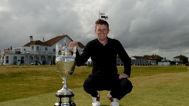 Garrick Porteous with his British Amateur championship trophy