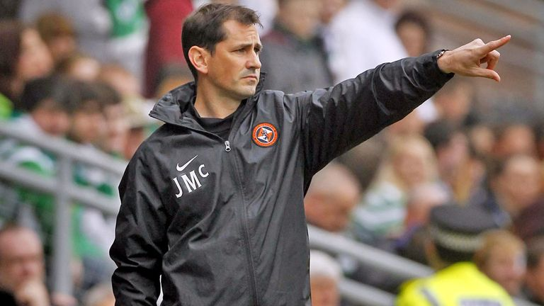 Jackie McNamara: His Dundee United side were beaten 4-1 in Germany
