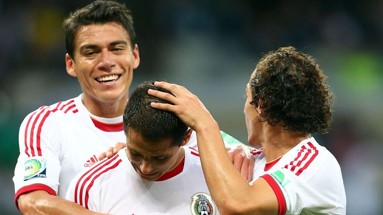 Javier Hernandez (c): Bagged two goals for Mexico