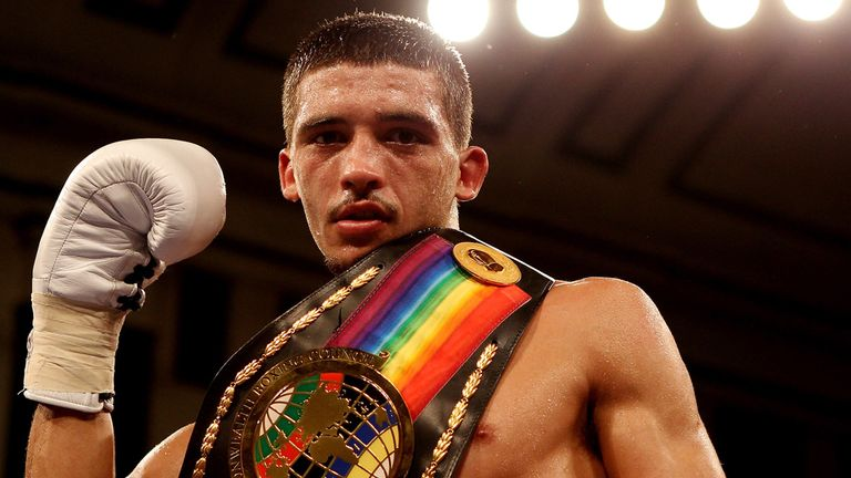 Lee Selby with British and Commonwealth Featherweight belts
