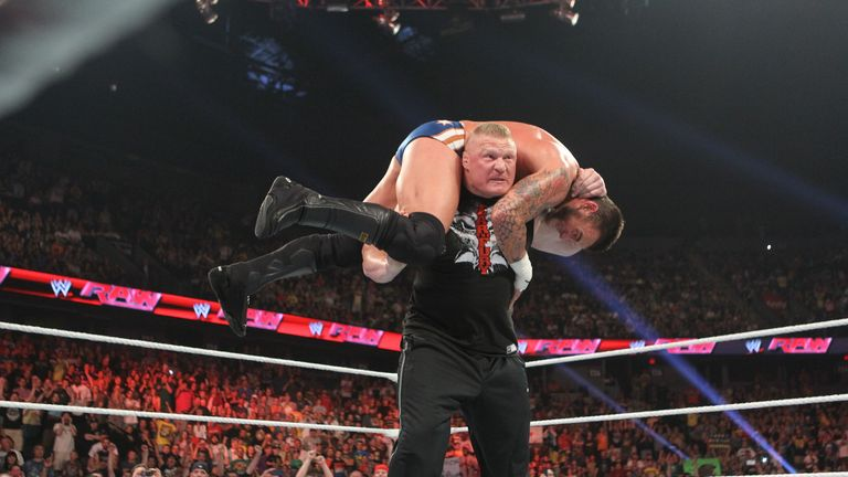 Lesnar: JR signed the Anomaly, seen here attacking CM Punk