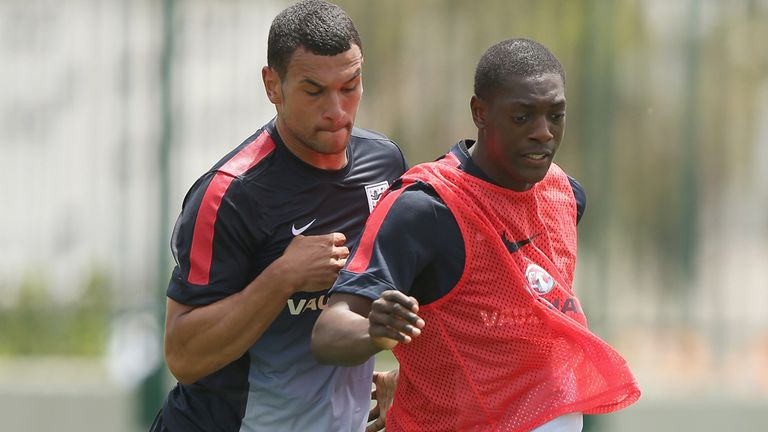 Marvin Sordell and Steven Caulker: Back to training after Italy defeat