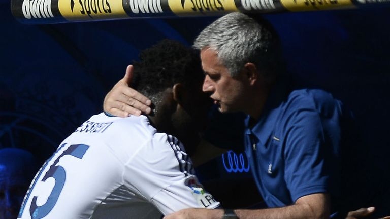 Michael Essien & Jose Mourinho: Together again at Chelsea after Real Madrid spell