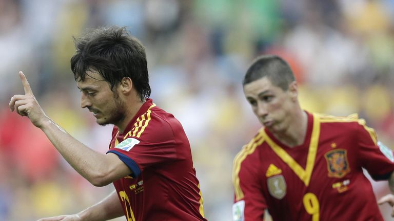 David Silva and Fernando Torres: Among Spain's goalscorers
