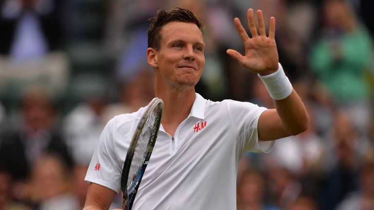 Tomas Berdych: Survived a first set tie-break to beat Daniel Brands in straight sets
