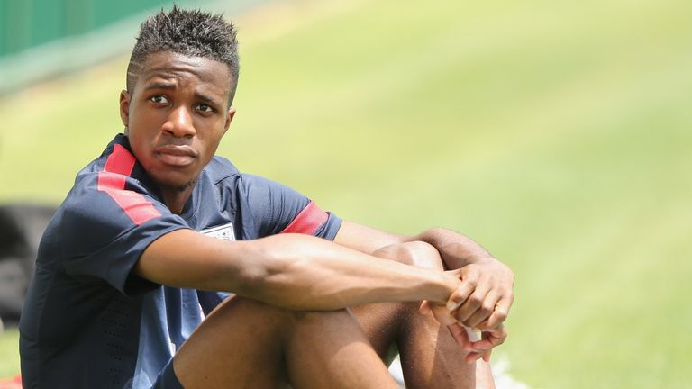Wilfried Zaha: Set to start against Norway