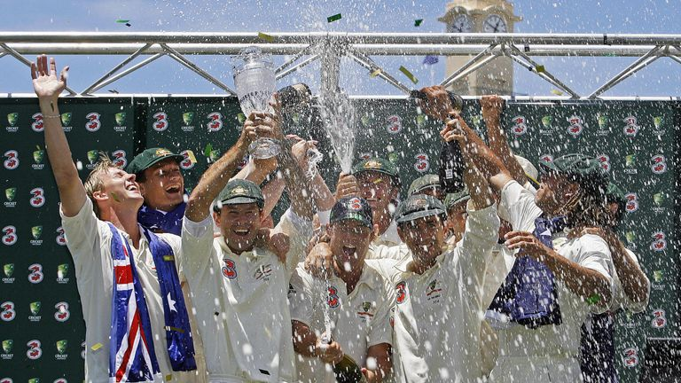 Mission accomplished: Australia celebrate a 5-0 Ashes victory in Sydney
