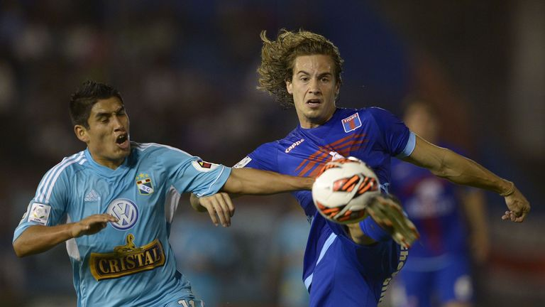Lucas Orban (r): Argentine defender linked with Sunderland