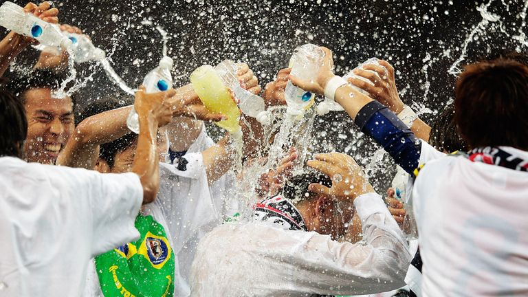 Japan celebrate in Saitama after booking Brazil place