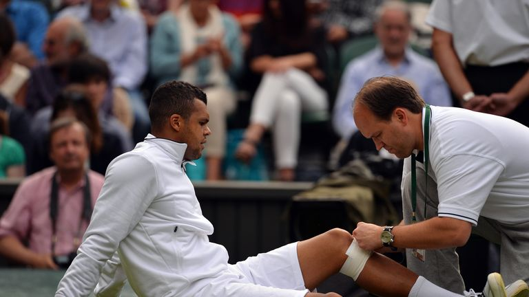 Jo-Wilfried Tsonga: knee injury ended Frenchman's Wimbledon hopes