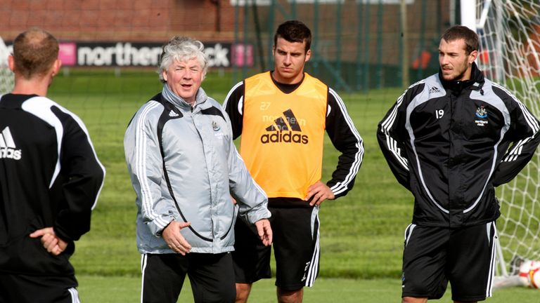 Joe Kinnear: Last on the Newcastle training ground in 2009