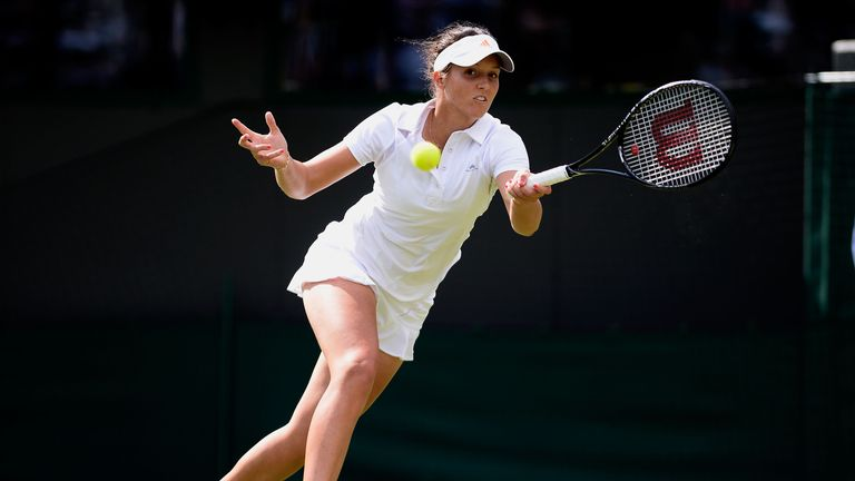Laura Robson: Through to the second round of Wimbledon