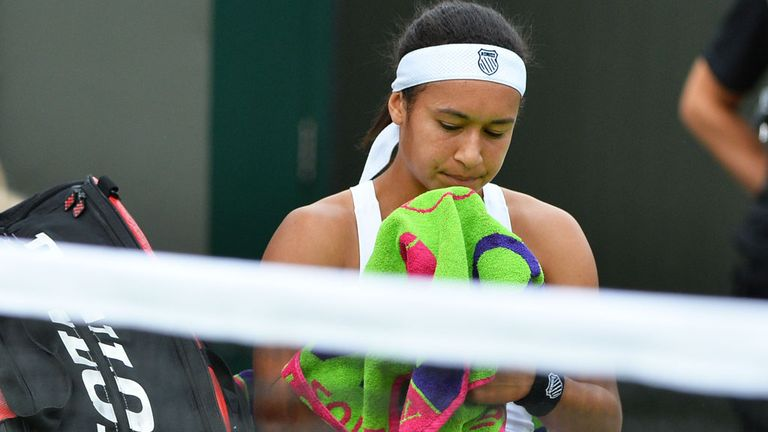 Heather Watson: Felt slow around the court in her defeat to Madison Keys