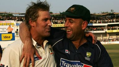 Shane Warne and Darren Lehmann during their playing days