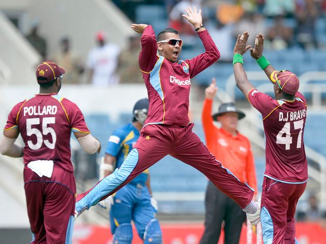 Sunil Narine: Four wickets for West Indies