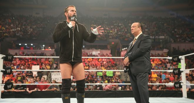 CM Punk asks Paul Heyman whether he instigated Brock Lesnar's attack on him