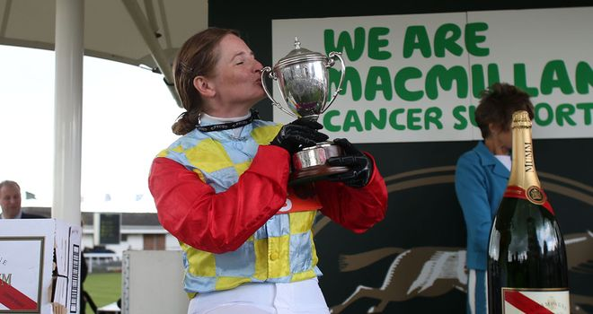 Carol Bartley won the amateur riders' handicap