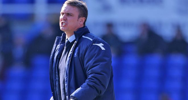 Lee Clark: His Birmingham side ran out 2-1 winners over Hull