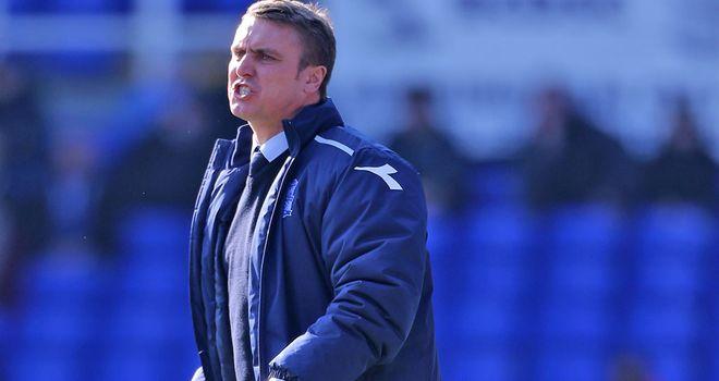 Lee Clark: His Birmingham side ran out 2-1 winners over Hull