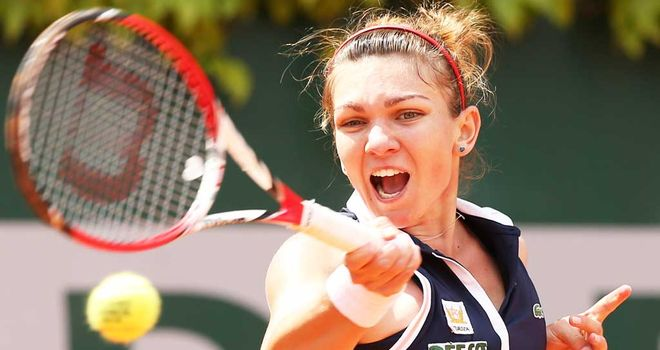Simona Halep: The Romanian defeated home favourite Andrea Petkovic