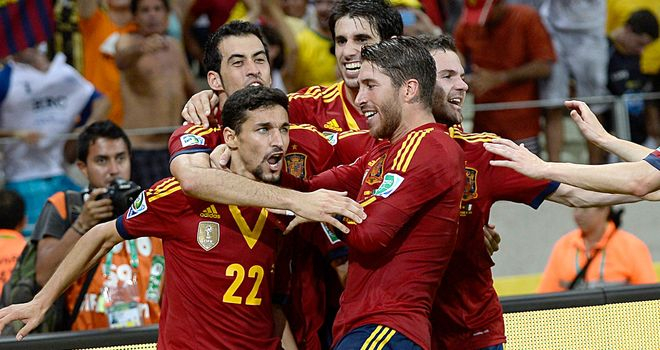Jesus Navas: Late leveller for Spain