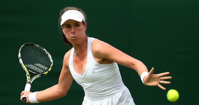 Johanna Konta: British No.3 lost out in deciding set against Danka Kovinic
