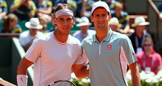 Rafael Nadal and Novak Djokovic: To meet in Montreal semi-finals