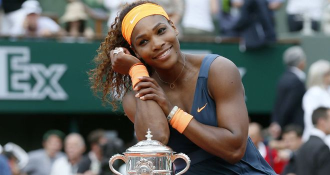 Serena Williams: Defeated Maria Sharapova to win the French Open