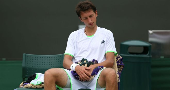 Sergiy Stakhovsky: could not back up his win over Roger Federer