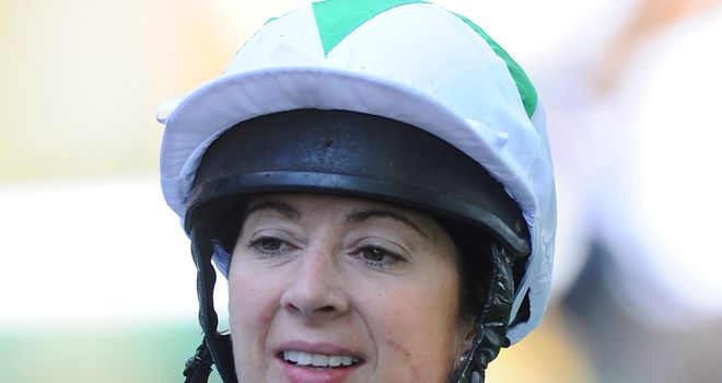 Hayley Turner: Bruised and battered after Doncaster fall